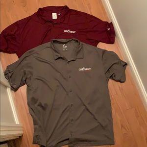 2 Men's Bowling Style Addidas Coach's Shirts